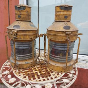 Pair of Grimsby Trawler Lamps Original
