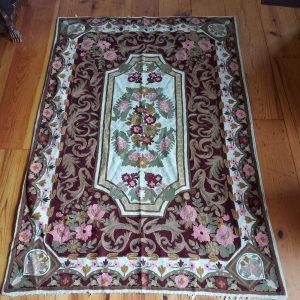 Kashmiri Chain Stitch Rug, Wool, 6 feet by 4 feet