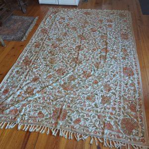 Kashmiri Chain Stitch Rug, 9 feet by 6 feet