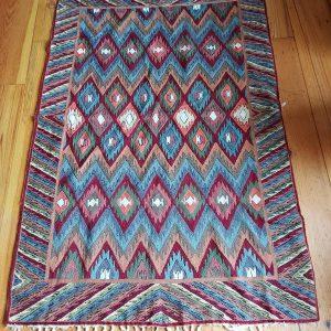 Kashmiri Chain Stitch Rug 6 feet by 4 feet