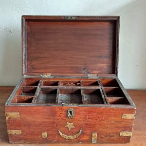 Antique box with fitted interior price 190 euro