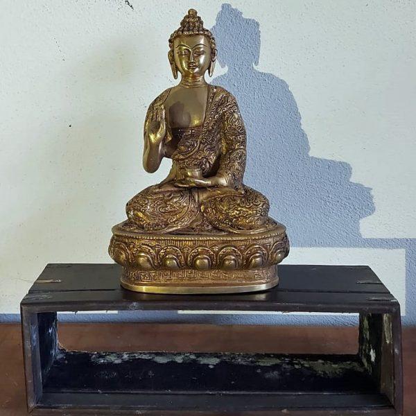 Brass buddha 12 inches price 130