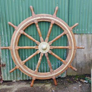 Burma teak ships wheel height 6 foot six inches price 1800 euro