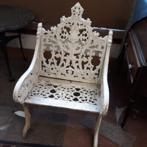 vy Coalbrookdale bench painted White price 460