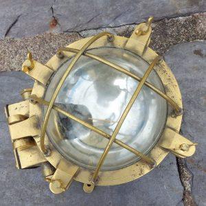 Large heavy bulkhead lamp. Diameter 9 inches. Price 330 e
