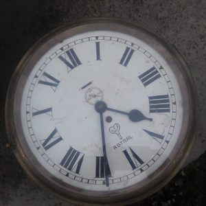 Large ships clock face 24 inches diameter price 800 euro Astral Wall clock with second inlaid dial in brass case with key