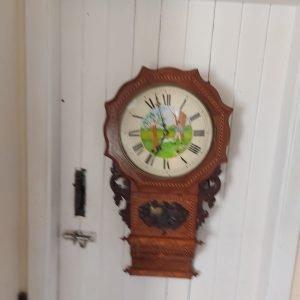 Late 19th century inlaid Wall clock 800 euro