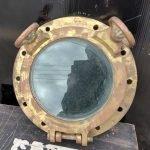 Original Ships porthole diameter 14 inches glass diameter 9 inches