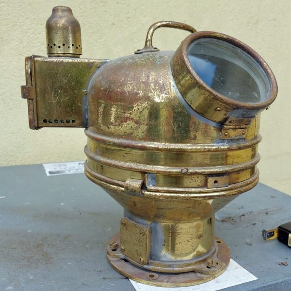 Compass Binnacle for a Lifeboat with a removable top .